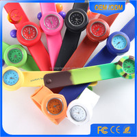custom silicone rubber wristband slap watches