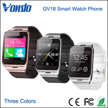 China Smart Watch Wholesaler New Model With Camera SIM Card Slot GV18 Smart Watch