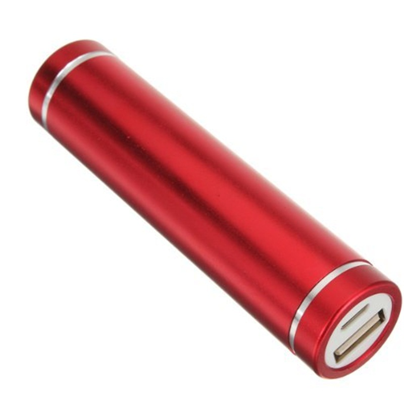 Wholesale Cylinder Cell Phone Charger 2600mah Power Bank with FC CE ROHS