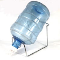 Metal Plated 3-5 Gallon Water Stand Dispenser Valve Stainless Steel Rack Holder Non Slip 5 gallon water bottle stand