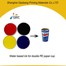 Double PE paper cup water based flexo printing ink