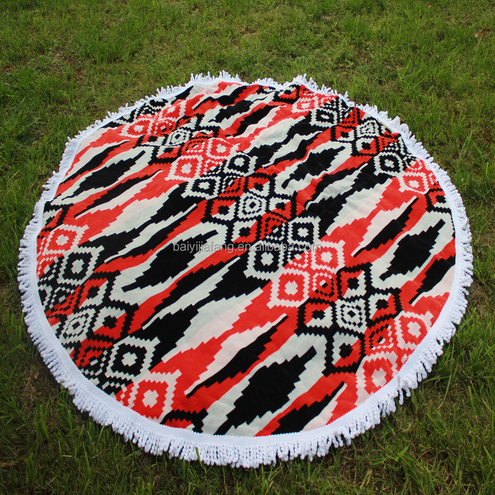 Hot Promotion Originality Round Beach Towel with Tassels Fastest Delivery