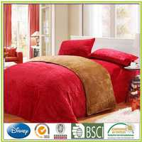 Solid dyed Flannel bed set embossed flannel bed products Flannel coordinated commercial cotton classic style hotel bath towel