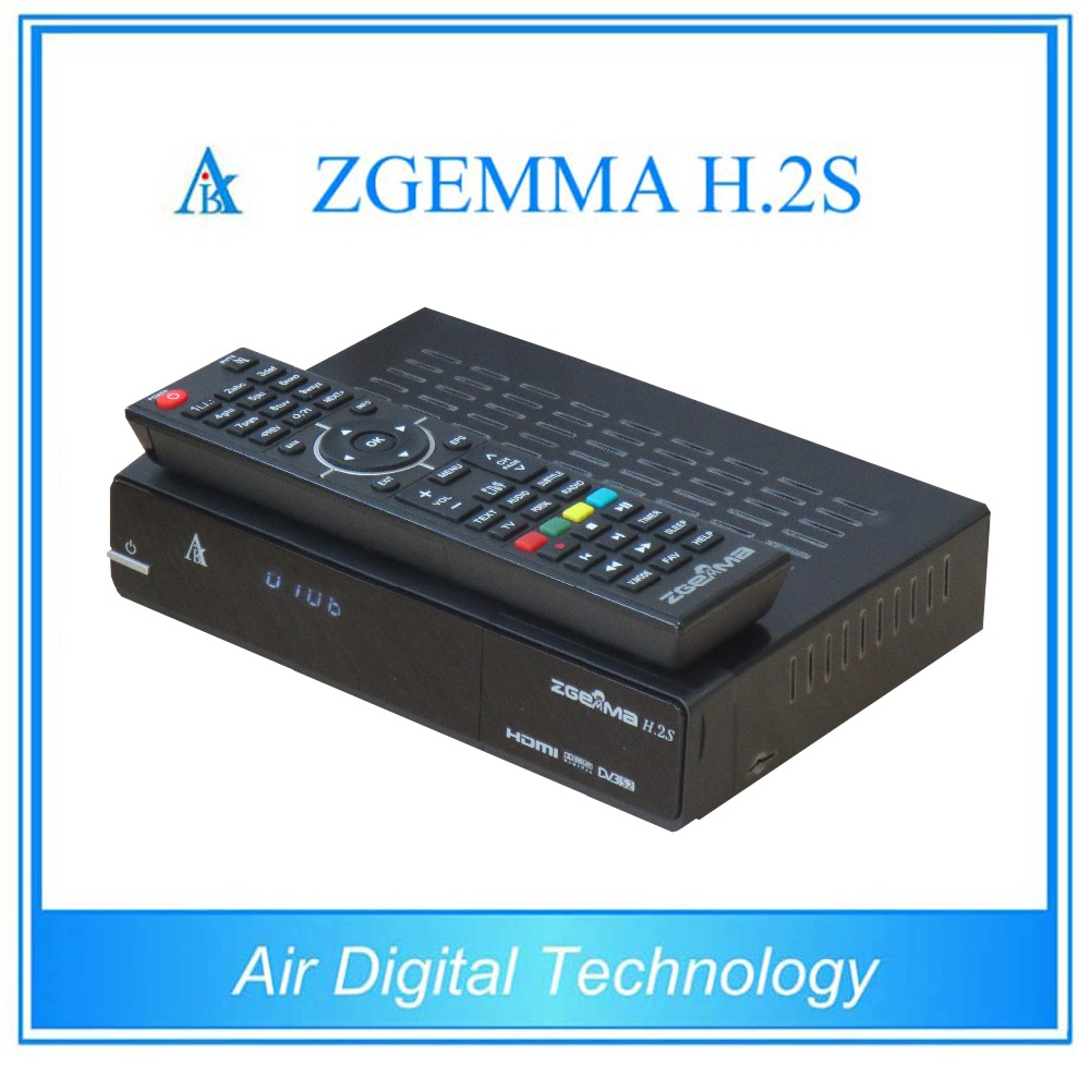 Powerful CPU ZGEMMA H.2S Linux OS Enigma2 With DVB-2xS2 Sat Tuners + Free 8GB SD Card