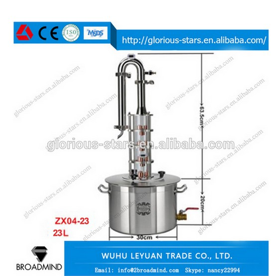 LX2168 ZX04-23 Cheap USA home alcohol distiller,moonshine still pot with column for sale