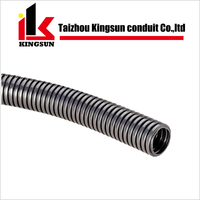Black PE Flexible Plastic Corrugated Pipe for Electrical Conduit