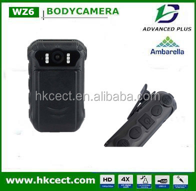 wifi body worn camera for police officer security with 1080P external cam GPS dock station
