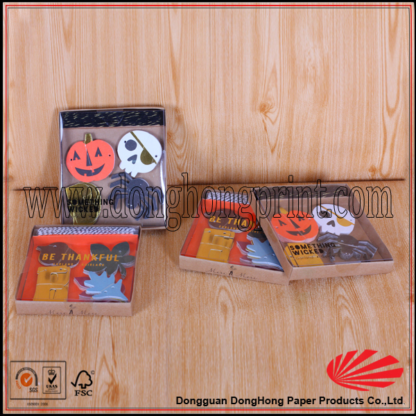 Happy Halloween kraft paper cheap gift boxes with pvc window
