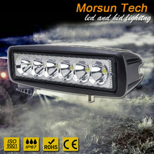 "Super Low Profile LED Series Light Bar 6"" 18W, 18 Watt led work light, led light bar 6 inch"