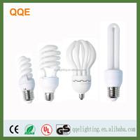 2U/3U/Spiral/Lotus shape E27 compact fluorescent energy saving spiral bulb lamp