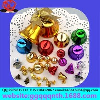 2013 christm Wholesale- Free shipping 120pcs mixed Colorful Small Iron Clock Shaped Bell 15x16mm FIt Merry Christmas decorations
