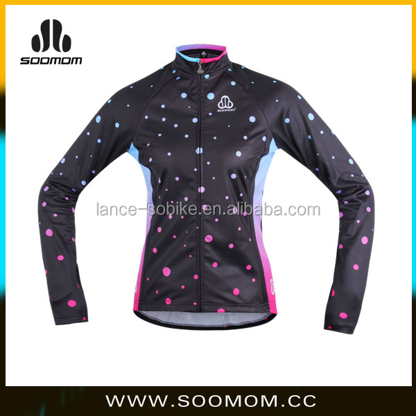 3D cutting Spring women cycling coat ,Thermal Cycling jacket