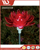 Beautiful Red Flower Solar Road Lighting