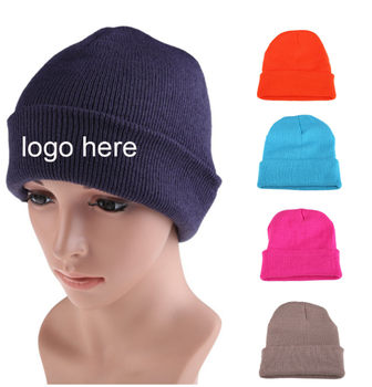 Winter Woven Custom 3D Embroidery Knitted Cheap Beanie Hat