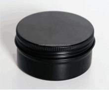 empty screw top matte black round aluminum tin can 20g/30g/50g/60g/100gm black candle aluminum tins