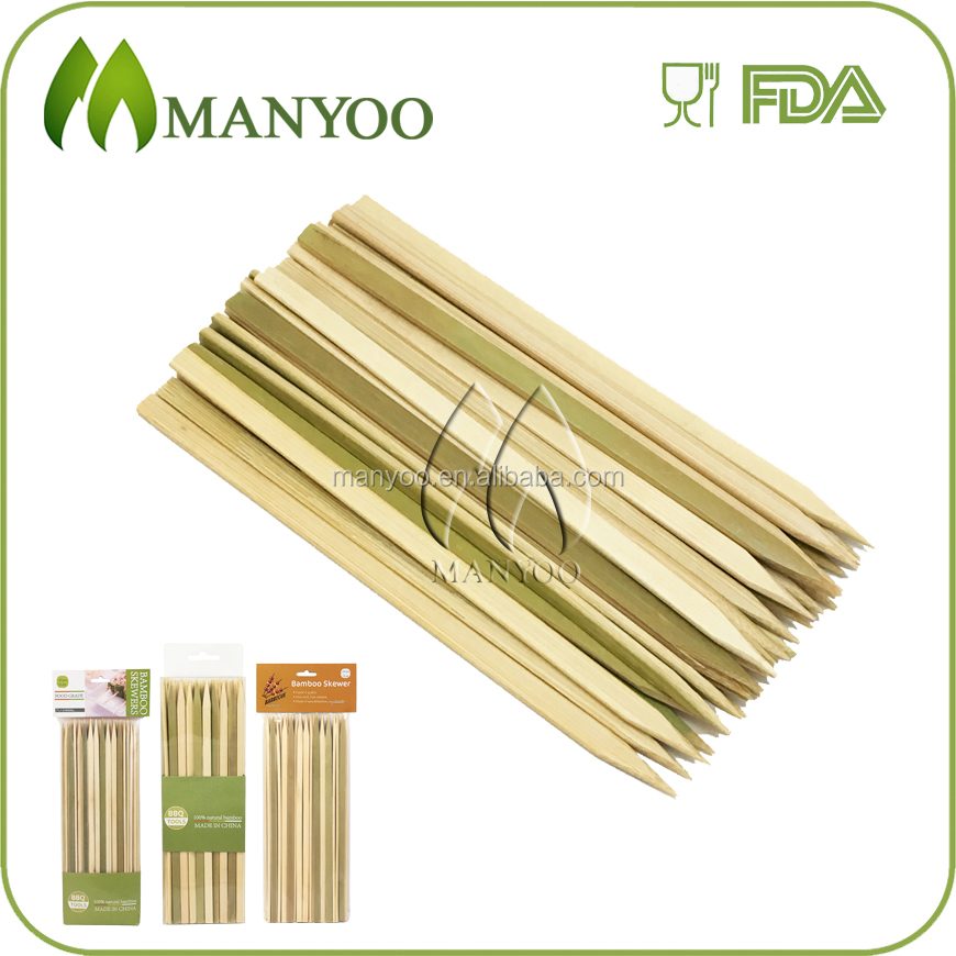 Premium quality bbq flat bamboo skewers