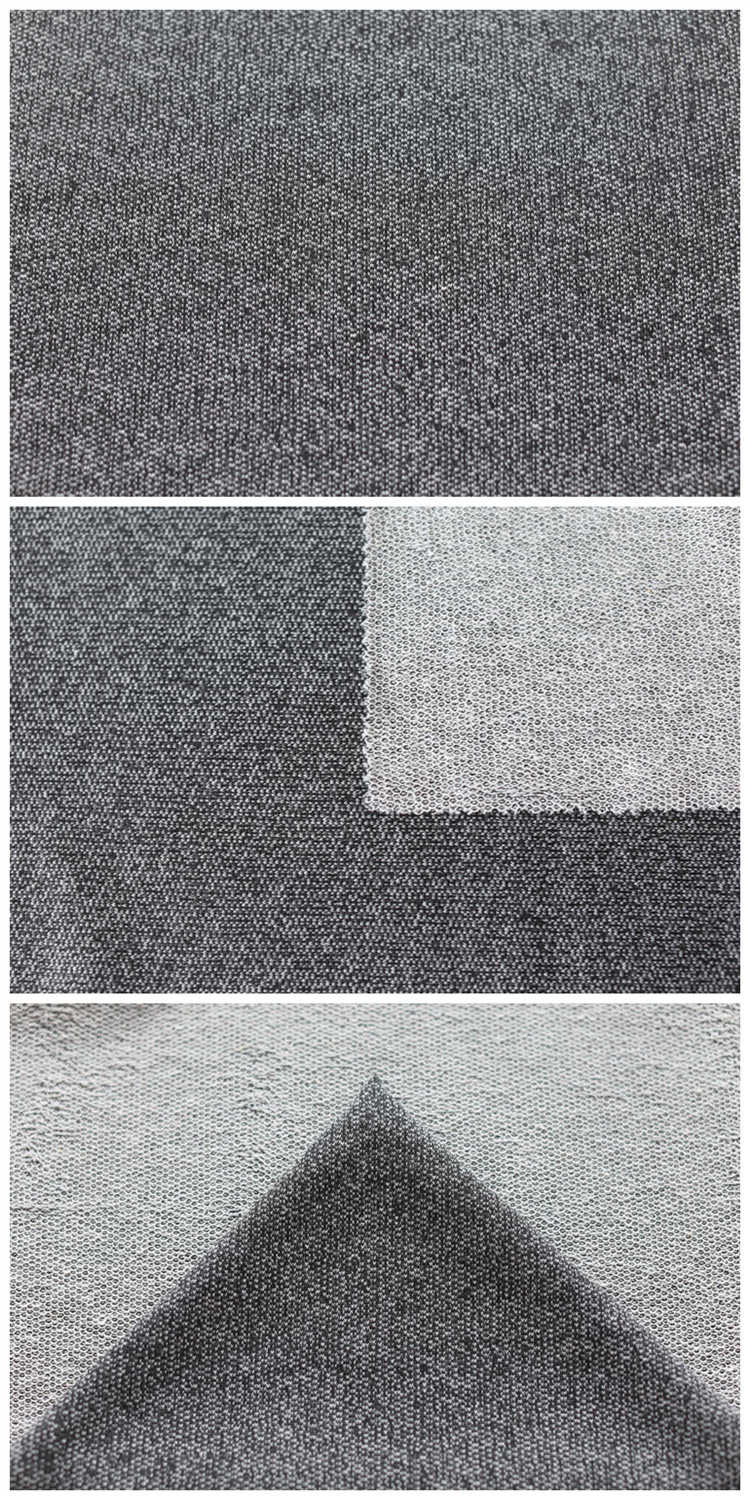 Breathable Knitted Weft Fabric Cotton Polyester French Terry Fabric Wholesale