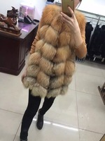factory price red fox fur vest /wholesale and retail