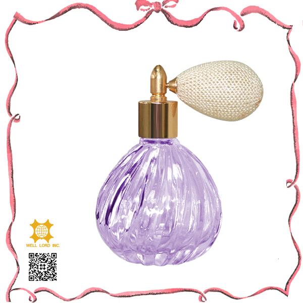 Christmas gift sets violet fragrance ball pump sprayer bottles