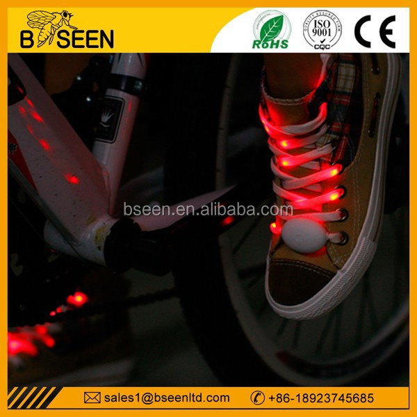 2014 trendy new innovative products wholesale colorful flashing led shoelaces for holiday