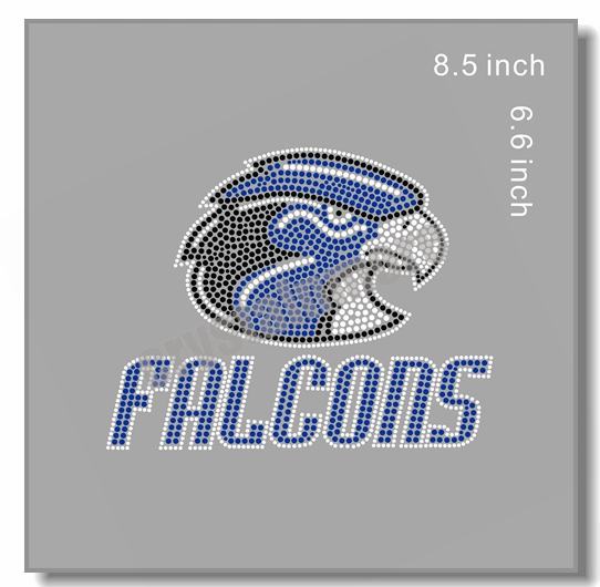 Falcons Iron On Rhinestone Transfer Motifs