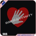 heart hand rhinestone diamante transfer iron on Gem Crystal Bling