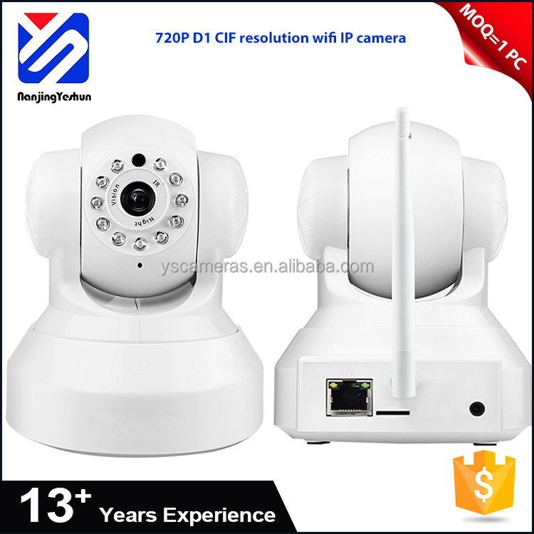 Support motion detecting 720P D1 CIF resolution wifi 32G TF card wireless cctv ip camera