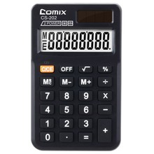 High quality dual power 8 digits Pocket size calculator