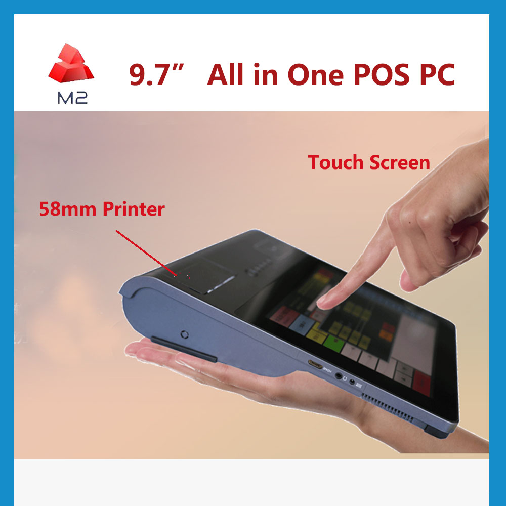 M2 Cheap New All in one Computer Desktop POS Windows System Intel CPU 3G 4G lte Touch Screen Mini PC