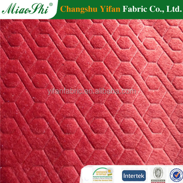 fashion design warp knitting printted velvet garment fabirc with workable price