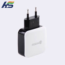 Universal qc qualcomm quick charge certified 3.0 abs+pc single usb quick charger 3.0