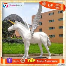 High Quality Fairy Tales Noble Art Sculpture White life-size unicorn model