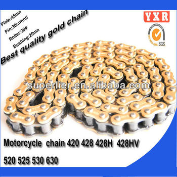 hot sale cheap motorcycle parts,chain sprocket chain,transmission kit ax100 parts