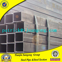 Tianjin gi square rectangular pipe and galvanized steel tube gates low price high quality gi square hollow