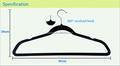 Fashional Velvet Hanger with U notches