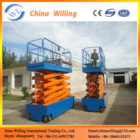 Battery Power Hydraulic Work Lifer Mobile Scissor Lifter