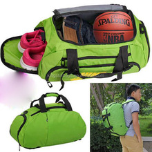 Custom 210D polyester sport gym folding travel duffle bag