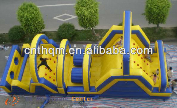 commercial kids jumping inflatable obstacle course