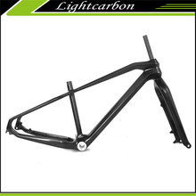 "OEM Accept!! 2017 LightCarbon 26er Hot Sale Carbon Fat Bike Frame+Fork+Clamp 26"" 17/19"" BSA Fatbike Disc Brake Frameset LCM612"