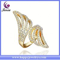 Alibaba wholesale price real 18k gold plated ring saudi gold rings men's jewelry RGPR327