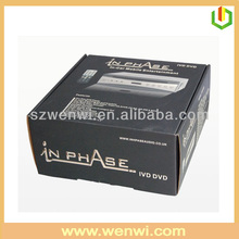 Black printing DVD packaging box carton box