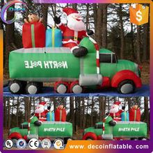 Oxford cloth material inflatable christmas santa claus/christmas santa claus decorative for sale