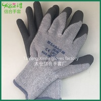 Terry plus velvet Factory direct Latex coated gray cotton labor working glove