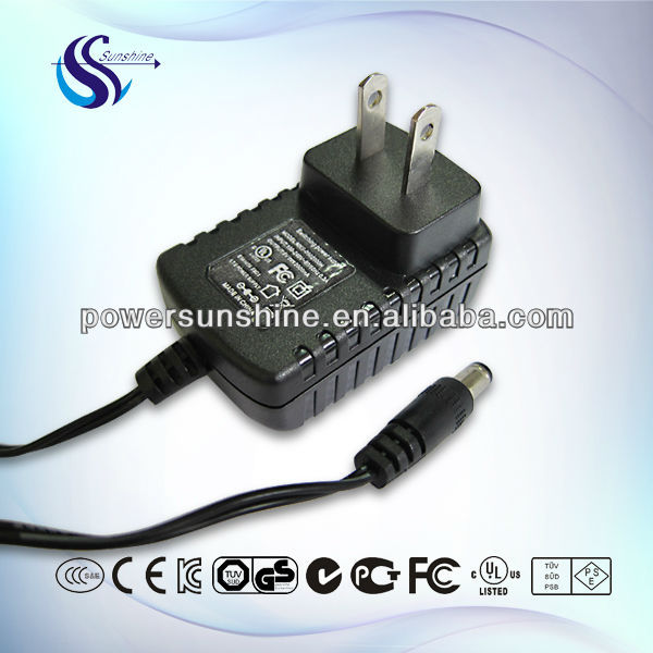 1a 5v ac dc power adapter with TUV UL plug