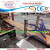 polymer wood composite decks making machine / recycled wood plastic PE WPC outdoor profiles extrusion equipment