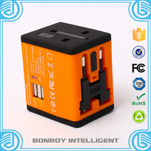 world wide universal new style smart dc ac folding plug usb travel adapter with power bank