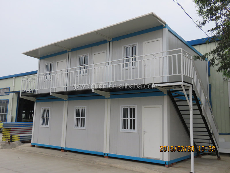 Portable flat pack container house