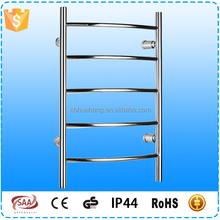E0103C New Product 304 Stainless Steel Curved Heated Towel Rack Hottest products In European made in Ningbo with SAA IP44