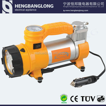 Air compressor for car with LED light (CE & ROHS)
