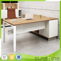 Made In China Furniture Office Desk White Ofiice Table With Side Table XFS-M1616